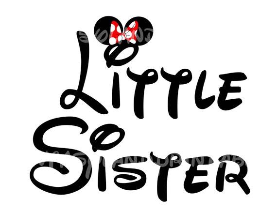 Hermanita Minnie Mouse Mickey DIY por FantasylandPrintable en Etsy