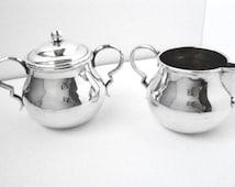 William Spratling Hand Hammered Sterling Silver Creamer and Sugar set Circa 1940