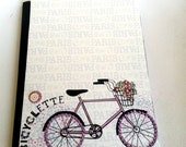 French Bicycle Notebook - Composition Notebook