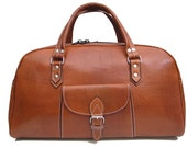 Handmade Leather Travel bag vintage handbag  sport bag, weekender holdall luggage
