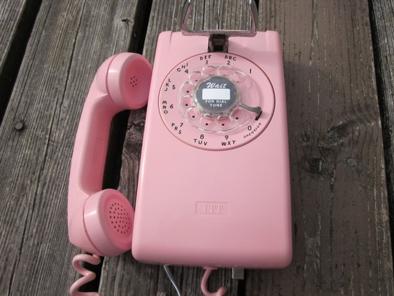 Restored Pink Wall Phone