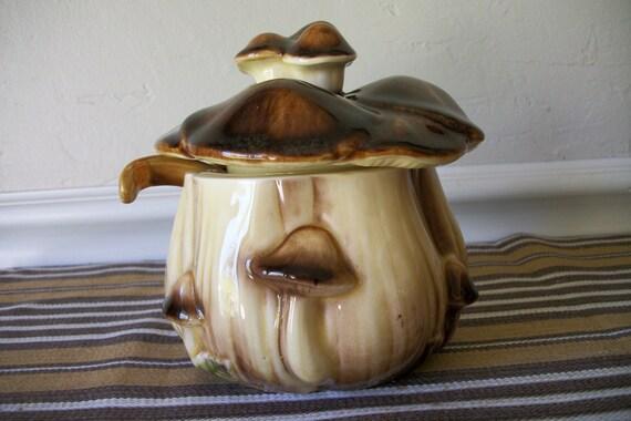 MUSHROOM sugar jam honey canister
