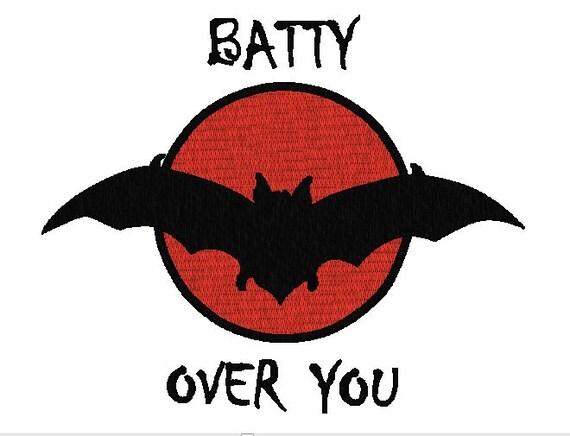 Halloween Bat Machine Embroidery Design