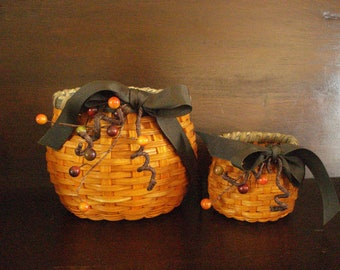Handwoven large Pumpkin Basket