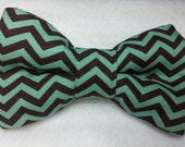 Chevron Bowties in Mint Chocolate Chip for Newborns, Toddlers and Big Kid