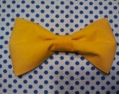 Mustard clip-on bowtie made to order and sold separately