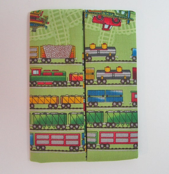 Clearance Pocket Tissue Cozy Pouch Holder Childrens Design Trains