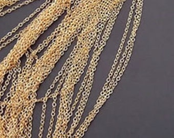 5 meters 1.5 mm gold necklace chain ch0005