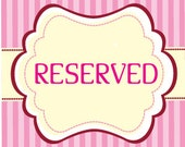 Reserved listing for Kristie Araujo