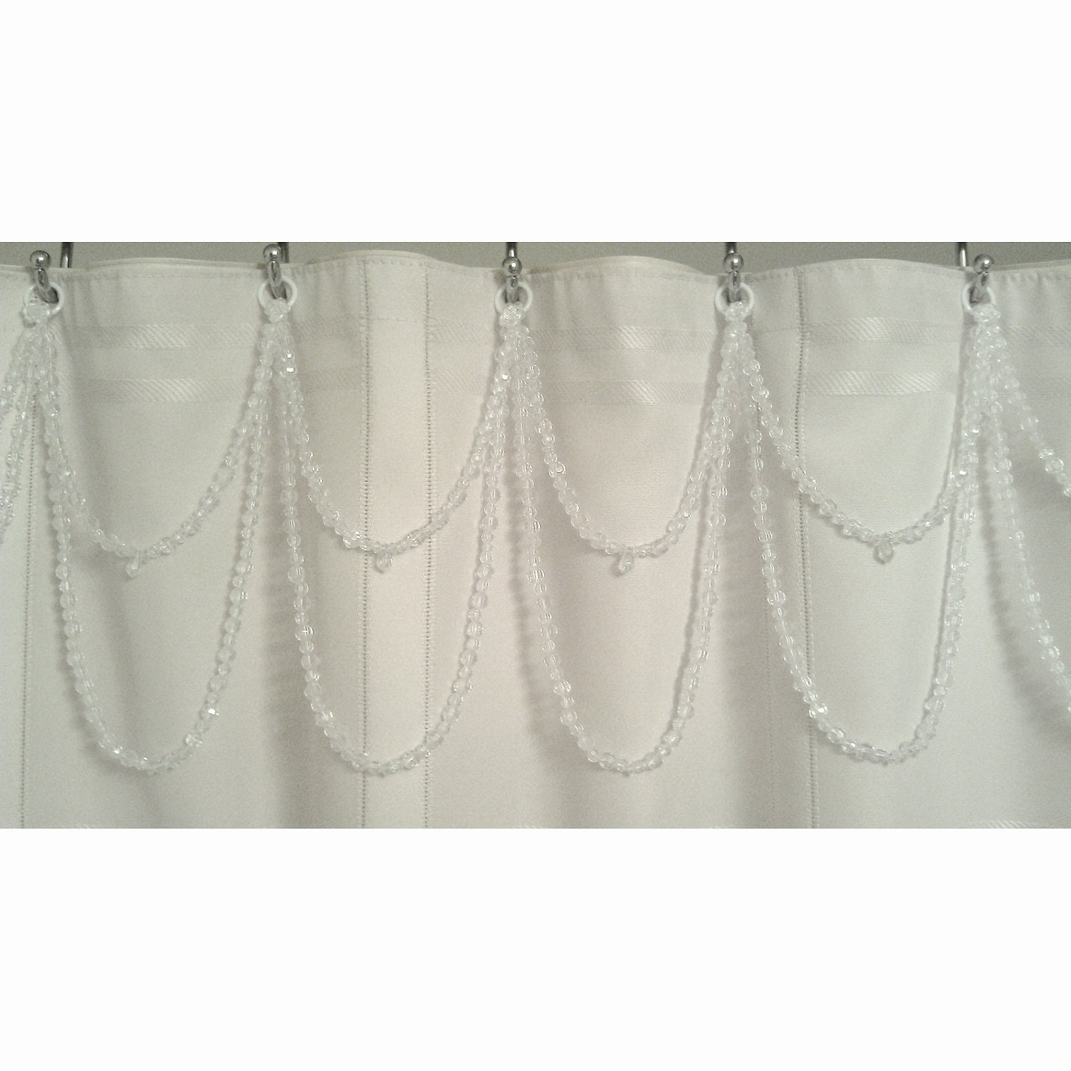 Shower Curtain Bling Crystal Clear Resin Bead