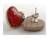 """Love Bites Earrings - 3/4"""" Heart Earrings"""