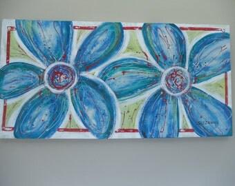 Original Painting - Fun Flowers - acrylic on canvas