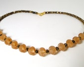 Milky smooth Topaz Necklace