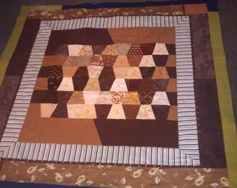 Espresso and Dreams Quilted Picnic Travel Quilt Blanket with Handle & Straps