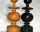 Bishop Chess Pieces Regency Antique Rustic Wood