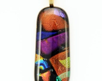 Fused Dichroic Glass Pendant (No.12-131)