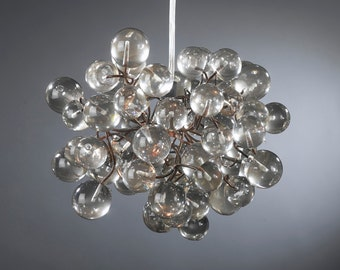 Hanging pendant light with Transparent clear bubbles for kids room, hall, bathroom, a unique light.