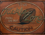 Tackle Zone 18 x 14 print with textured coating