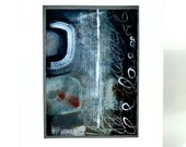 Abstract Painting in Black and White, Contemporary Fine Art /Home Decor for the Camera Enthusiast/ Nikon Camera Art, Matted Artwork