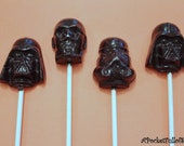 14 STAR WARS Hard Candy Barley Sugar Lollipops Birthday Party Favors Darth Vader