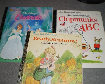 Set of Three Little Golden  books for Children