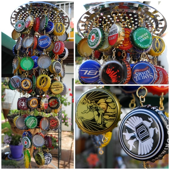 Handmade Random Beer Bottle Cap Wind Chime
