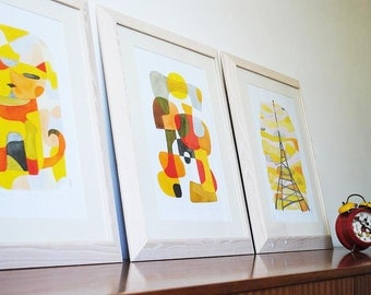 20% OFF: ANY 3 BIG Art Prints of Your Choice - Mid Century Modern Art 11x16