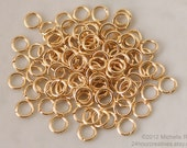 6mm Gold Jump Rings - 6 mm 18 Gauge Gold Plated Brass - Goldplated - Open Jumprings - Pack of 100 Goldtone Jump Rings - Ships FAST from USA
