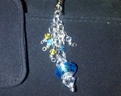 Aqua Sparkle Purse/Backpack/Key Ring/Anything Charm
