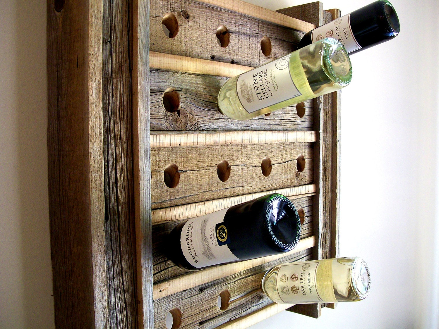 Wine Rack Riddling Rack Rustic Reclaimed Barn Wood
