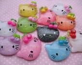 Hello Kitty Resin Flatback Cabochon-mixed color