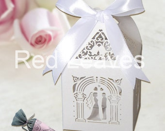 500pcs Bride Groom favor boxes