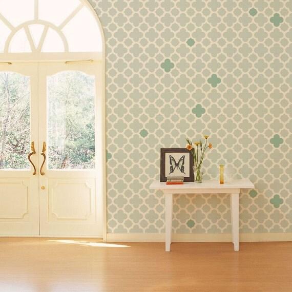 modern wall stencil. Black Bedroom Furniture Sets. Home Design Ideas