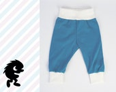PUDGE PANTS / Perfect for Cloth Diapers - Cloth Diaper / SIZE: 3 - 6 months / Prussian Blue