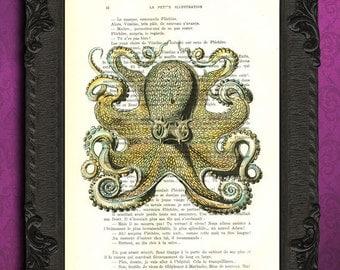 giant yellow octopus print