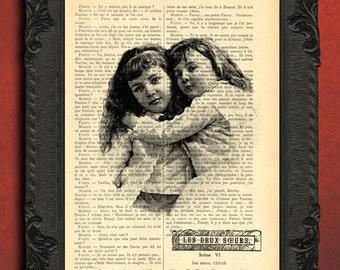Sister gift, sisters wall art, big sister gift art, sisterhood