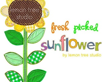 Digital Clip Art -- Fresh Picked Flowers -- The Sunflower (Instant Download)