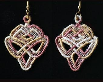 Celtic Diamond Knot FSL Earrings