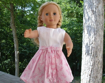 PINK RIBBON DRESS with lace and pintuck bodice