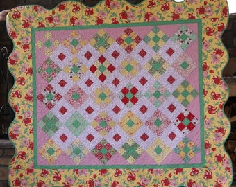 Fruit Punch Scalloped Quilt