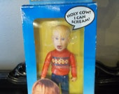 Home Alone Screaming Kevin Action Figure New In Box and still works - NIB - Macaulay Culkin