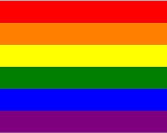 Gay Pride Rainbow Bumper Sticker Decal