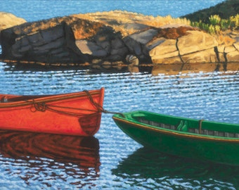 """Last Light at Blue Rocks  7.5"""" x 15"""" Image on 11"""" x 17"""" paper by Paul Hannon FREE SHIPPING Canada & US"""