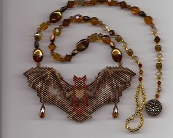 Beaded Bat Necklace