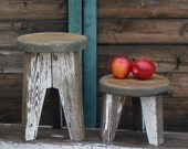 Re-claimed wood footstool, stepstool
