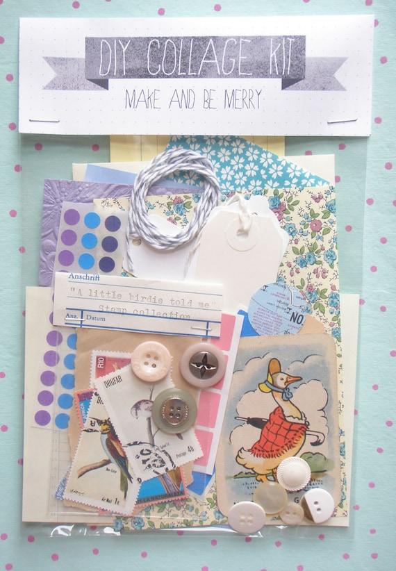 DIY Collage Kit - mixed bag