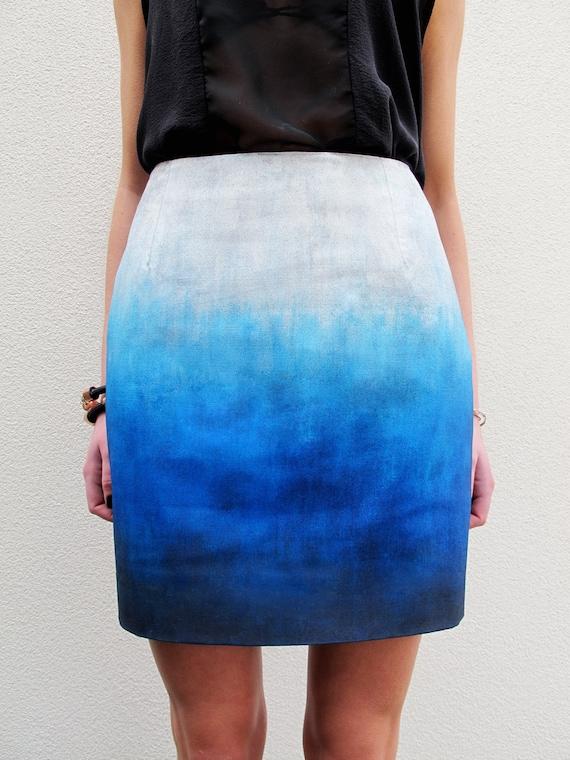 Blue Skies Ombré Skirt