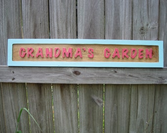 Grandma's Garden Sign - Routed
