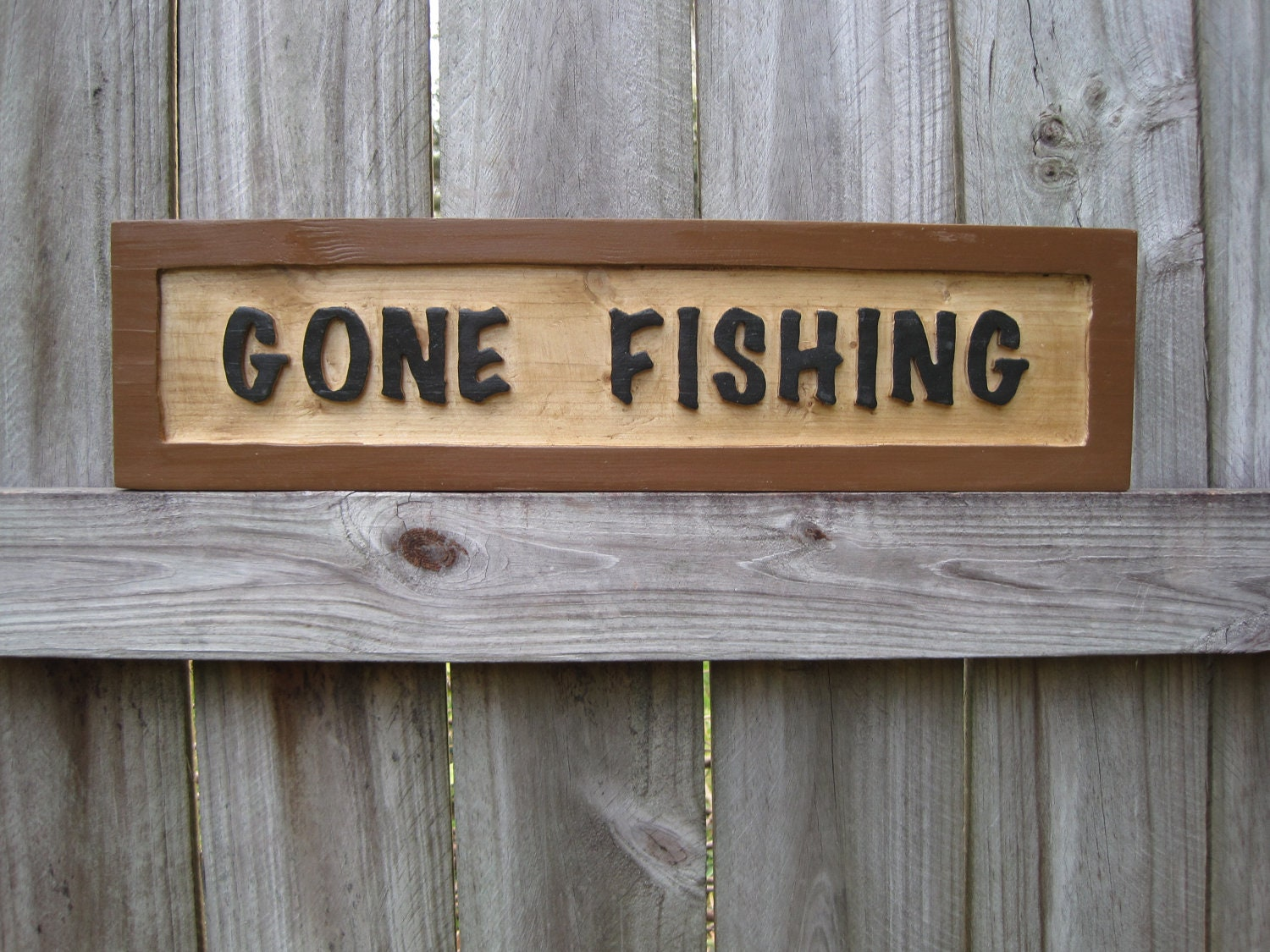 Gone Fishing Sign Routed