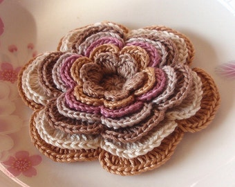 Larger Crochet Flower in 3-1/2 inches YH-120-01